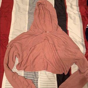 Pink half sweatshirt
